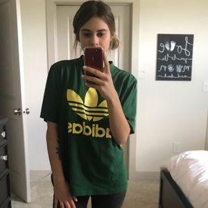 Green and yellow Adidas T-shirt